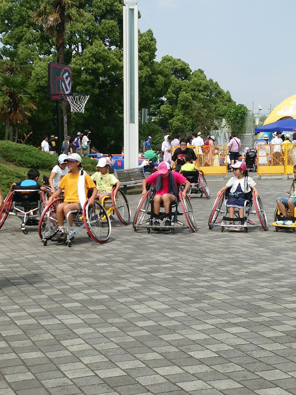 運動の和チャレンジシリーズ!体験スポーツ車椅子