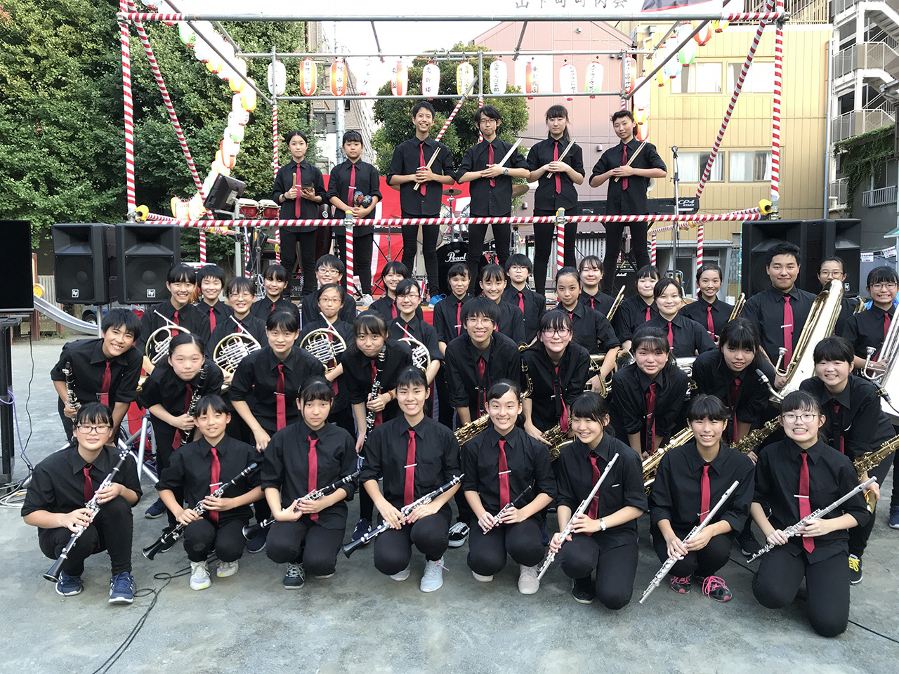 横浜市立港中学校吹奏楽部 Marching Jazz Band